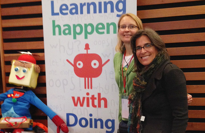 Sherri with Alison Evans Adnani at Maker Junior at Toronto Mini Maker Faire 2014