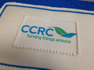 CCRC Rebrand Launch Cake